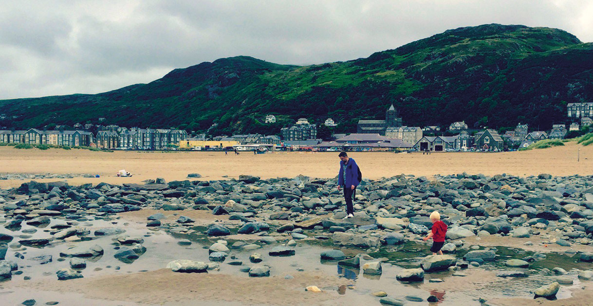 Beach at Barmouth Bay, Wales