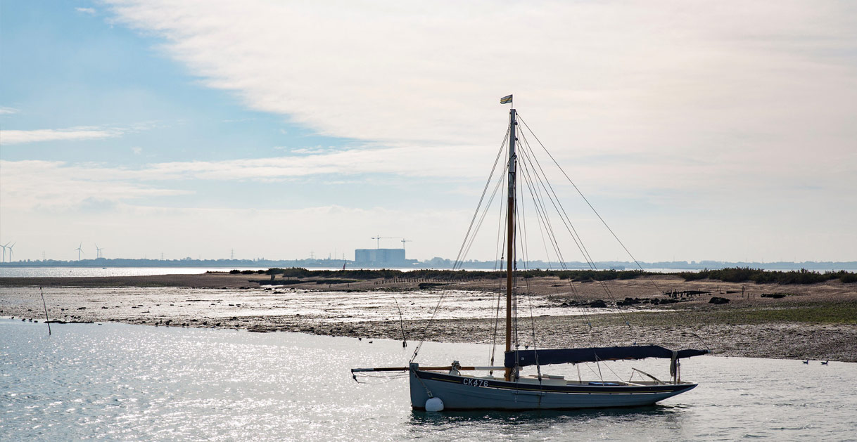 Boats Sailing by Mersea Island