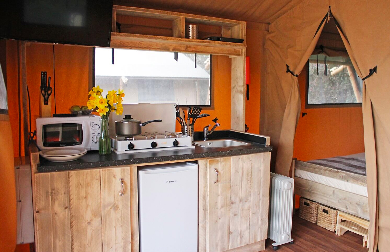 Experience Glamping at Sandy Balls